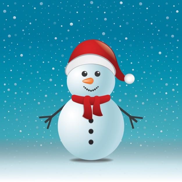 クリスマスの背景デザイン 無料ベクター