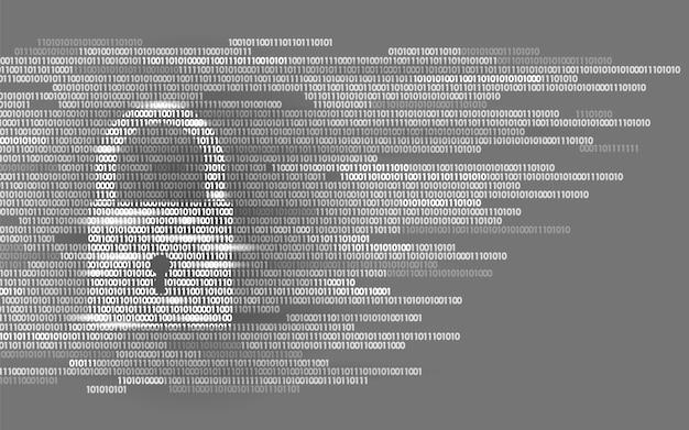 デジタルロックガードサインバイナリコード番号、ビッグデータ個人 Premiumベクター