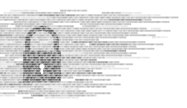 デジタルロックガードサインバイナリコード番号、ビッグデータ Premiumベクター