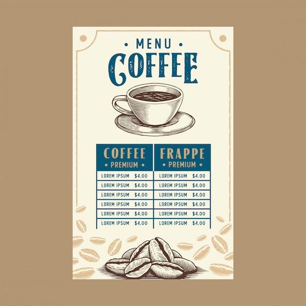 レストランコーヒーメニュー Premiumベクター