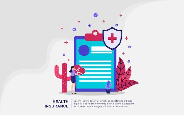 Иллюстрация концепция медицинского страхования Premium векторы