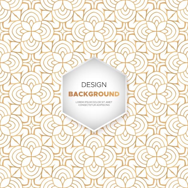 豪華な装飾曼荼羅のデザインの背景 無料ベクター