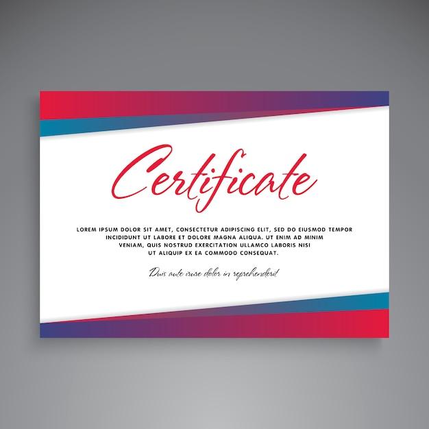 プロの証明書テンプレートの設計 無料ベクター