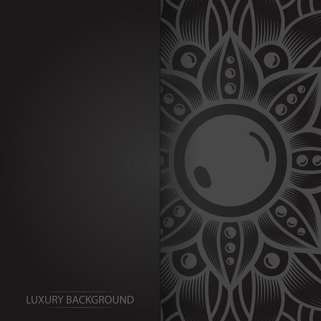 Золотая винтажная открытка на черном фоне Premium векторы