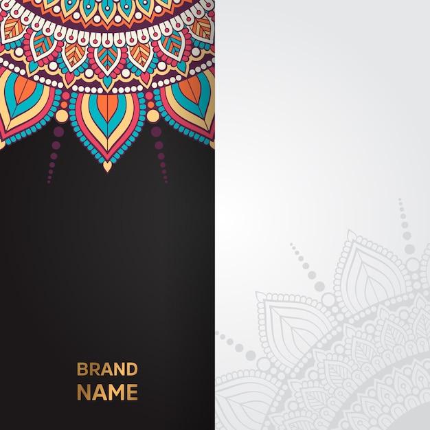 Золотая винтажная открытка на черном фоне Бесплатные векторы