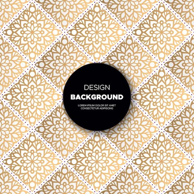 Роскошный декоративный дизайн фона мандалы в золотом цвете Бесплатные векторы