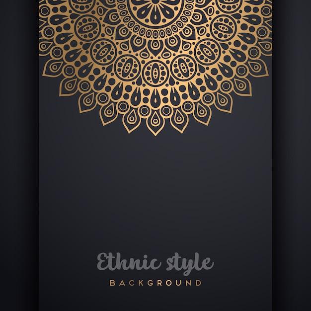Роскошный декоративный фон дизайн мандалы Бесплатные векторы