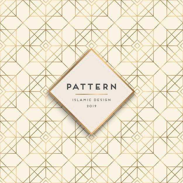 幾何学的なシームレスパターンの背景 無料ベクター