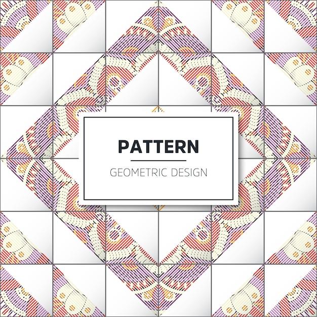 幾何学的なタイルパターン 無料ベクター