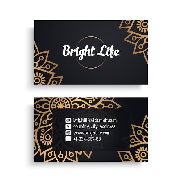Роскошный дизайн визитки Бесплатные векторы