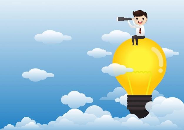 アイデアコンセプトの実業家 Premiumベクター