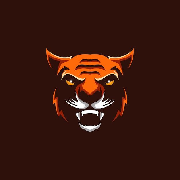Тигр логотип Premium векторы