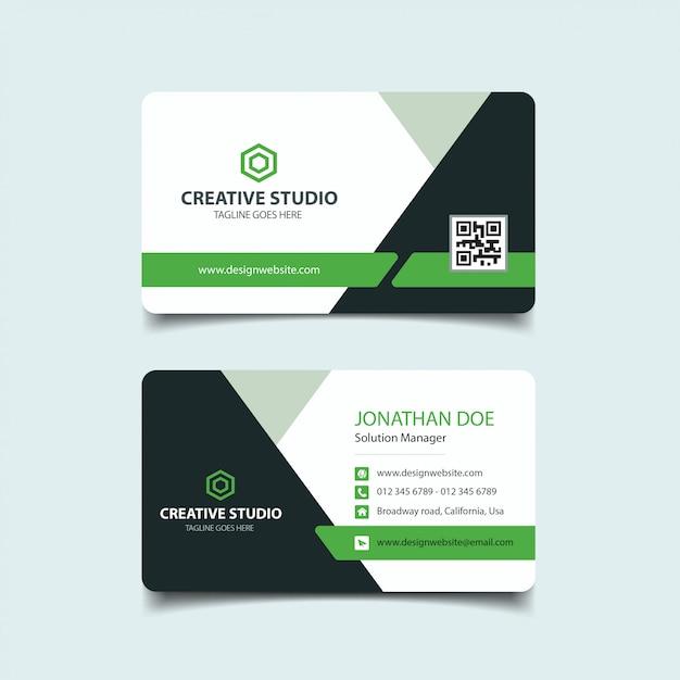 Корпоративная визитная карточка Premium векторы