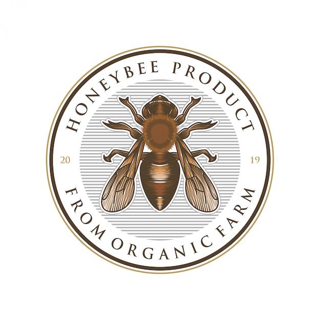 Разработка логотипа для медовых продуктов или медоносных пчел Premium векторы