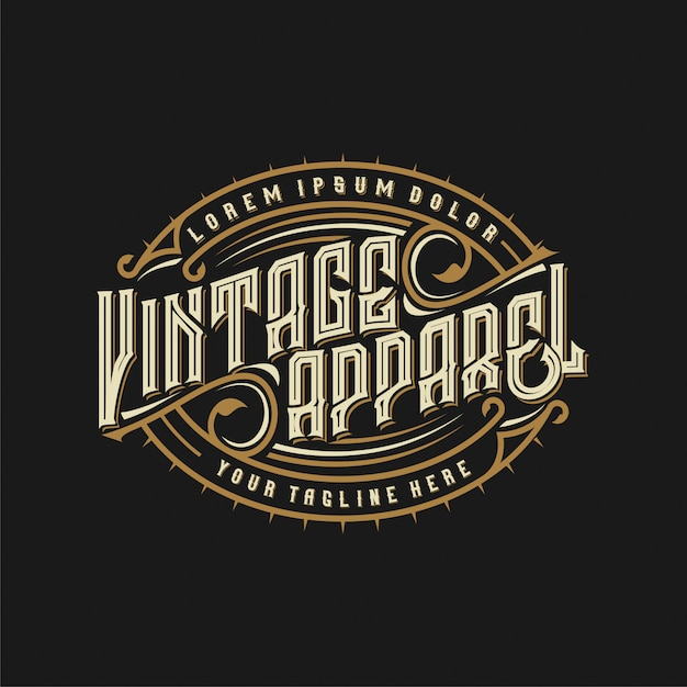 Винтажный логотип для брендов одежды Premium векторы
