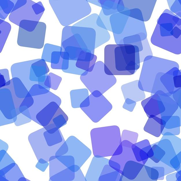 Повторение геометрического квадратного фонового рисунка - векторный графический дизайн из случайных вращающихся квадратов с эффектом непрозрачности Бесплатные векторы