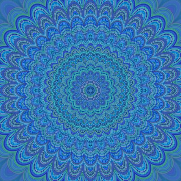 サイケデリックな曼荼羅の飾りの背景 - 同心円の楕円形からの円形対称ベクトルパターンデザイン 無料ベクター