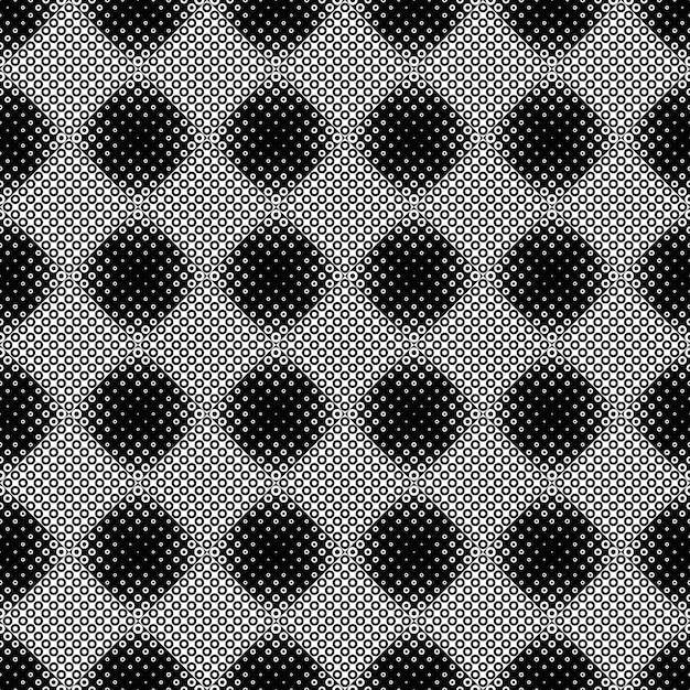 黒と白の幾何学的円のシームレスパターン Premiumベクター