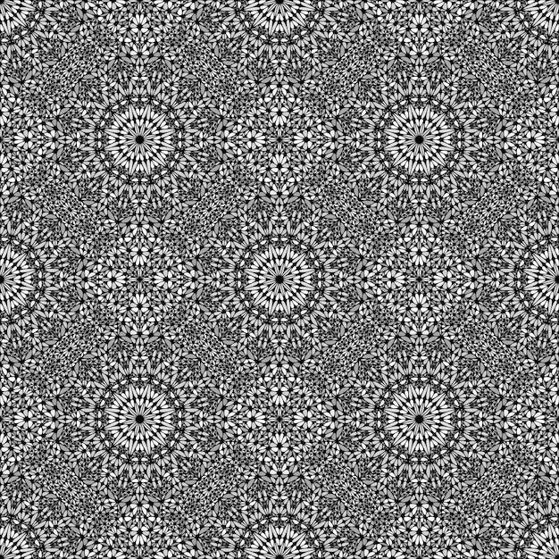 シームレスな抽象的な庭マンダラモザイクパターン背景アート Premiumベクター