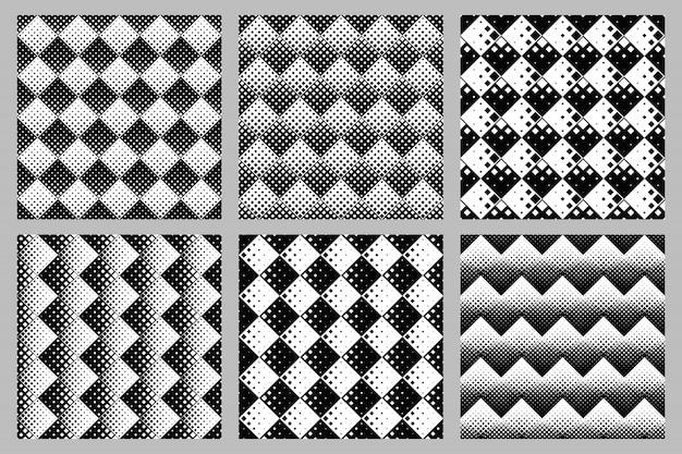 Квадратный узор фона набор абстрактных векторных графических конструкций Premium векторы