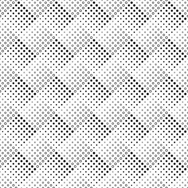 幾何学的なシームレスなモノクロ抽象円パターン背景 Premiumベクター