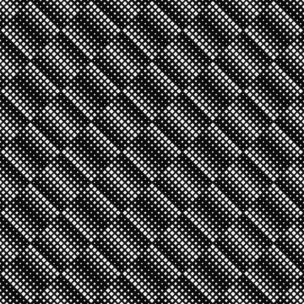 黒と白の幾何学的な正方形のパターンの背景 Premiumベクター