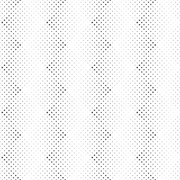 幾何学的な黒と白のドットパターン背景 Premiumベクター