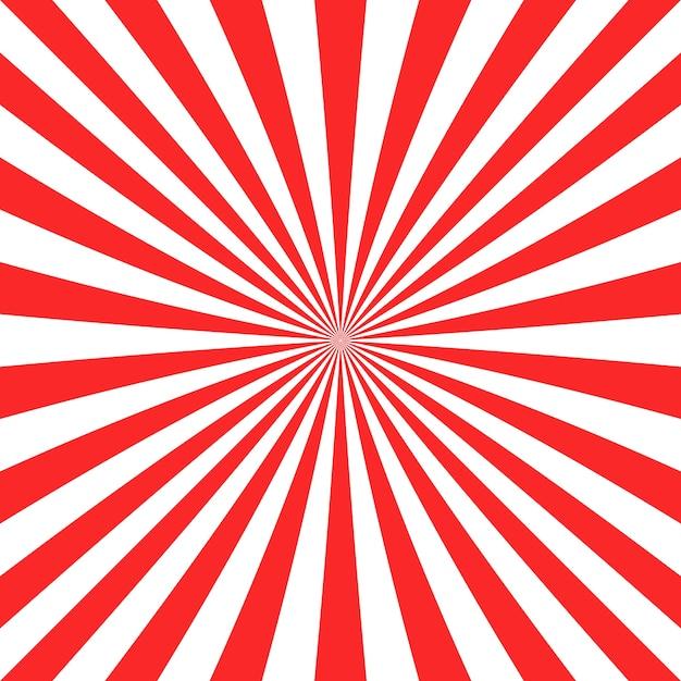 赤い太陽の背景のデザイン 無料ベクター