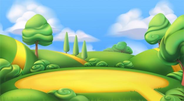 Мультфильм земля иллюстрация Premium векторы