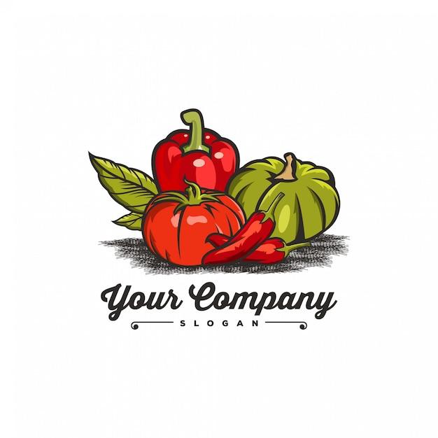 野菜のロゴの色 Premiumベクター