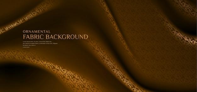 伝統的な装飾的なパターンのファブリックの背景 Premiumベクター