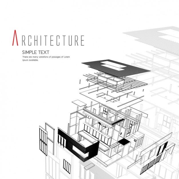 Дизайн архитектура фон Бесплатные векторы