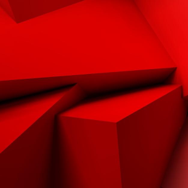 重複する赤いキューブと抽象的な背景 Premiumベクター