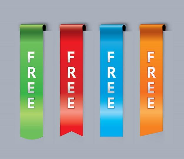 Бесплатный набор закладок Premium векторы