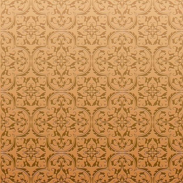 Бесшовные дамасской фоновый узор и обои из турецкой текстуры керамической плитки в векторе Premium векторы