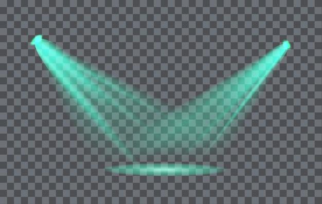 背景が透明なライト効果スポットライト Premiumベクター