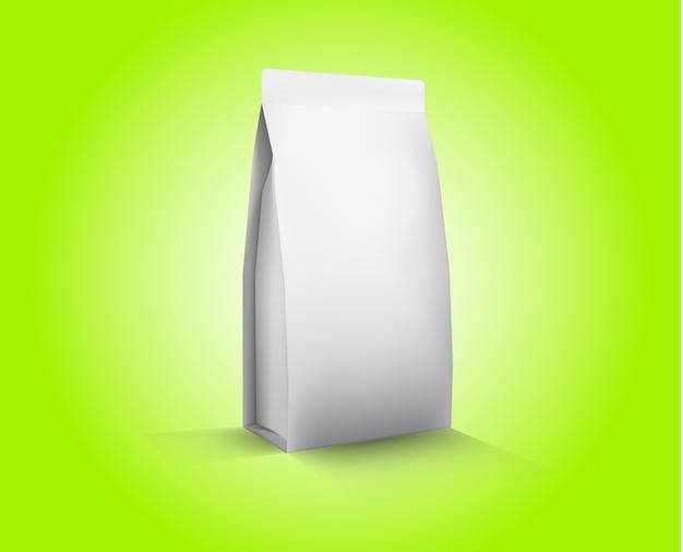ベクター空白の白い箔食品包装イラストレーション Premiumベクター