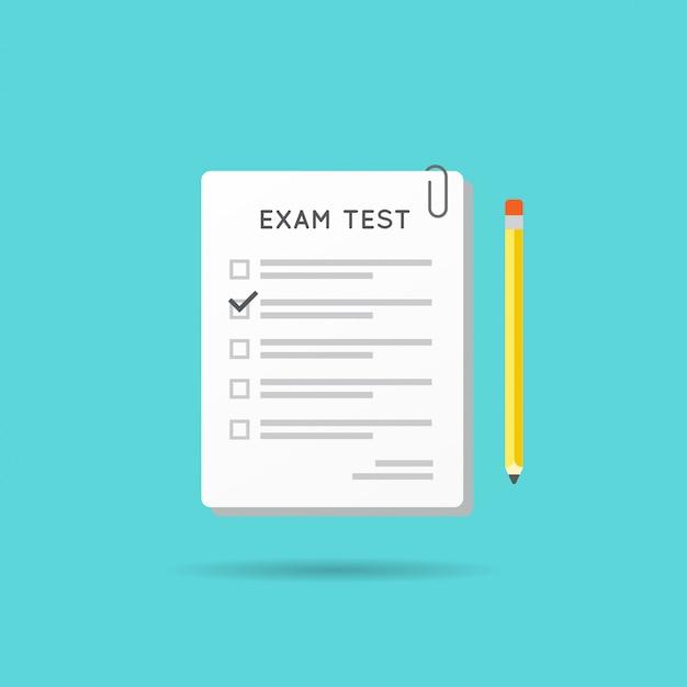 テストまたは試験のアイコン。 Premiumベクター