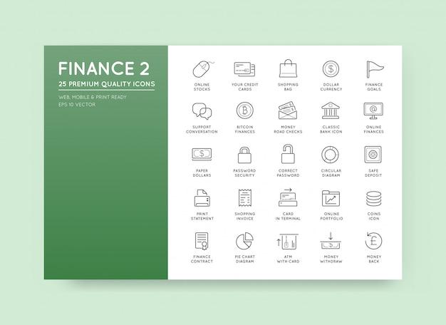 Набор значков «финансы, деньги», «платежи и богатые доходы» можно использовать в качестве логотипа или значка в премиальном качестве. Premium векторы