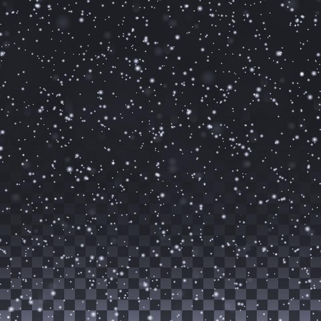 Элементы снежинки на зиму и рождество Premium векторы
