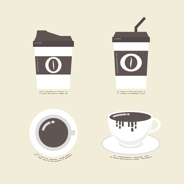 Коллекция кофейные чашки Бесплатные векторы