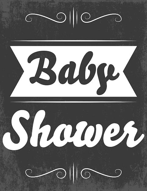 ベビーシャワー Premiumベクター