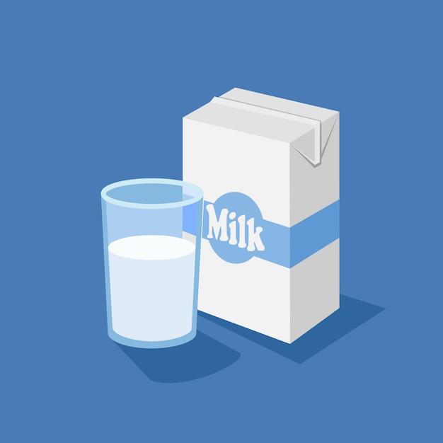 Стеклянная и молочная коробка Premium векторы