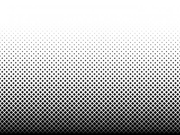 白地に黒い四角の幾何学模様 Premiumベクター