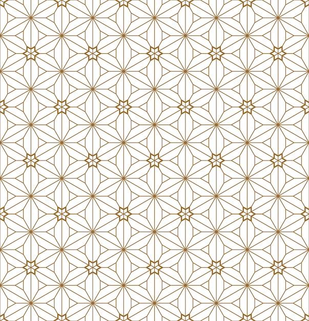 Бесшовные геометрический рисунок на основе японского орнамента кумико. Premium векторы