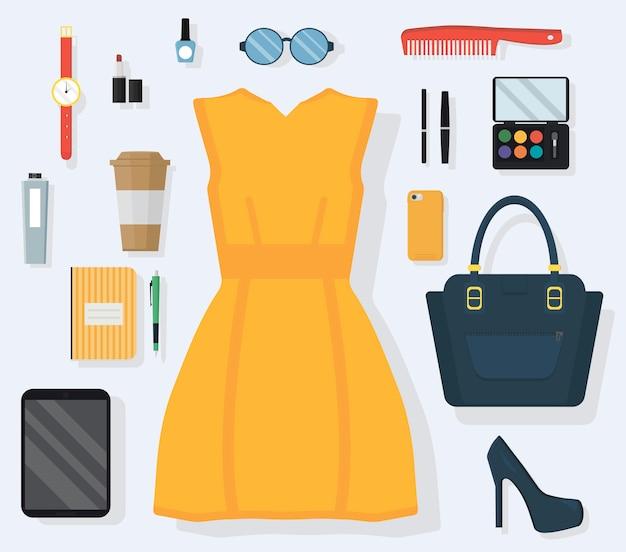 毎日の服のコンセプト Premiumベクター
