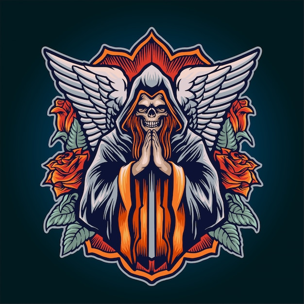 死の天使の図 Premiumベクター