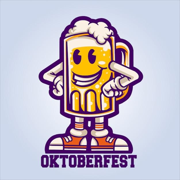 Октоберфест счастливое пиво Premium векторы