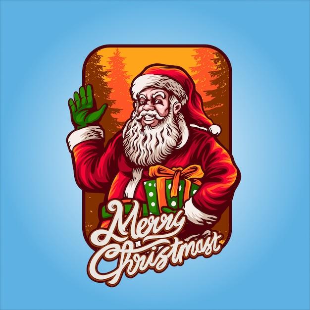 サンタクロースクリスマスの準備ができて Premiumベクター