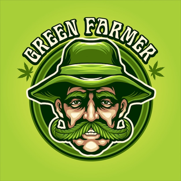 緑の農家の図 Premiumベクター